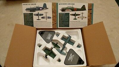 atlas editions vought f4u corsair & mitsubishi a6m3 zero