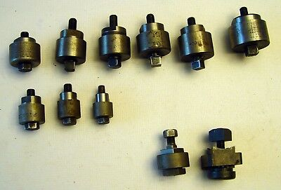 "11 Piece LOT of GREENLEE + PIONEER CHASSIS PUNCH 5/8"" to 1 1/2"" + Square 3/4 & 1"