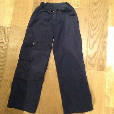 Official Cub Scout Navy Cargo Trousers Elasticated Waist 9/10 Years