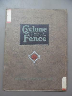 1929 Cyclone Fence Co Deluxe Architectural Catalog Chain Link Fencing Vintage VG