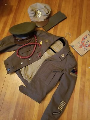 ww2 lot 2nd armored  army visor need repair CRUSHER NOT INCLUDED