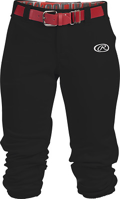 NEW Rawlings Girl's Youth Launch Solid Low Rise Softball Pants - WLNCHG
