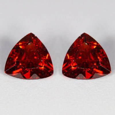 1.42 Cts~Shimmering Top Red~Matching Pair~100 % Natural Pyrope Garnet~Sri Lanka