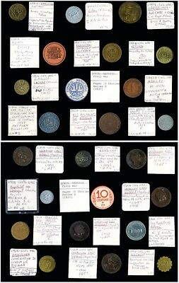 24 Spanish Civil War Tokens > Interesting Lot > Scarce Pieces Included> No Rsrv