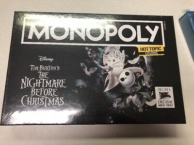 Monopoly The Nightmare Before Christmas Hot Topic Exclusive ON HAND AND SEALED