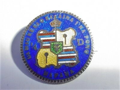 1883 Hawaii Silver Quarter Coin Enamel Pin