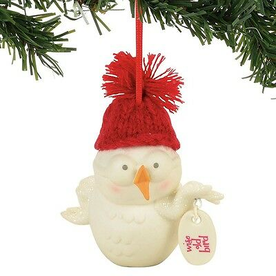 Snowpinions Wise Old Bird Christmas Tree Ornament new holiday
