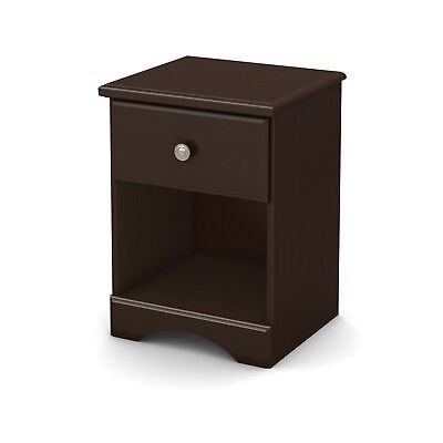 Morning Dew 1-Drawer Nightstand, Chocolate - 9016062