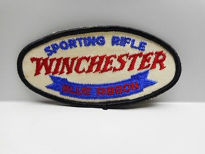 Vintage - WINCHESTER BLUE RIBBON SPORTING RIFLE  - Embroidered Patch or Crest