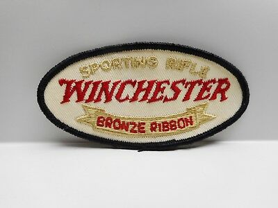 Vintage - WINCHESTER BRONZE RIBBON SPORTING RIFLE  - Embroidered Patch or Crest