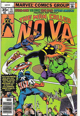 The Man Called Nova #15 Bronze Age Marvel Comics Marv Wolfman NM-