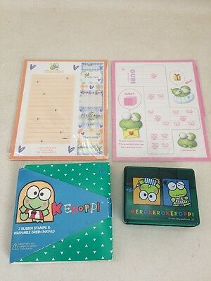 Vintage Keroppi Sanrio Rubber Stamp Envelope Sets