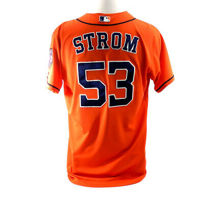 2014 Houston Astros Brent Strom #53 Game Issued Possible Game Used Orange Jersey