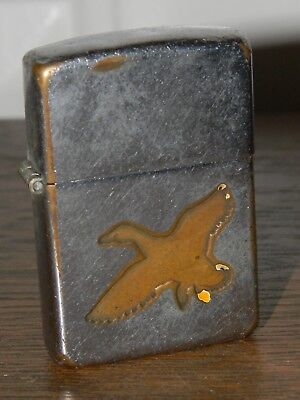 EARLY VINTAGE 1949-50 ZIPPO LIGHTER Town & Country Mallard Duck