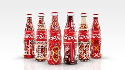 Coca Cola Bulgaria Folklore Set Limited Edition Embroidery Ethno Inspiration