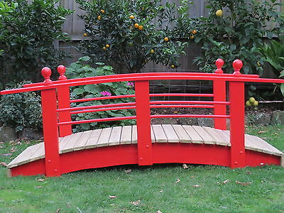 Handmade Japanese Garden Pond Bridge #2 - 6ft (1.8m)