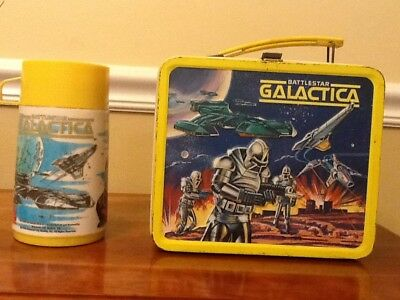 1978 Aladdin Battlestar Galactica Metal Lunch Box & Thermos