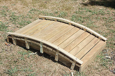 Handmade Garden Pond Bridge #4 - Curved Mini Handrail