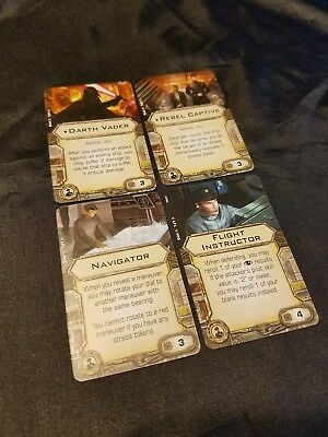 Star Wars X-wing Miniatures Imperial Crew Upgrade Card Lot w/ Vader