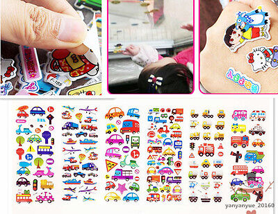 6 sheets PVC Transportation Stickers lot  Scrapbooking kids Crafts Birthday gift