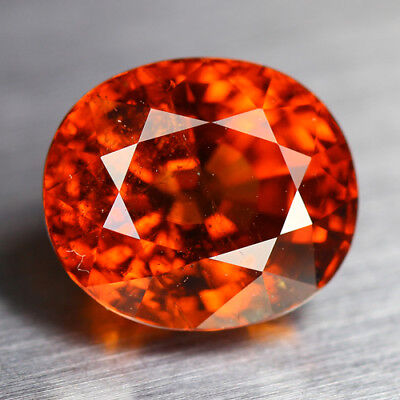 6.40 Cts_Electric Fire & Luster_100 % Natural Orange Spessartite Garnet_Srilanka