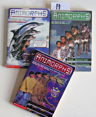 3 K.A.Applegate books - ANIMORPHS - #4,9,39