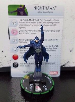 Marvel Heroclix Nick Fury Agents of SHIELD #59b Nighthawk Super Rare Prime