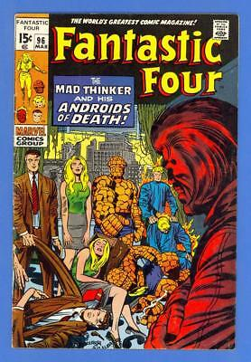 Fantastic Four #96 – Marvel (1970) – Mad Thinker & His Androids Of Death!