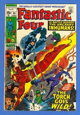 Fantastic Four #99 – Marvel Comics (1970) – The Uncanny Inhumans!