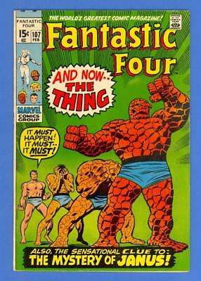 Fantastic Four #107 – Marvel Comics (1971) – 1St Janus – High Grade!