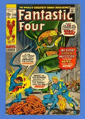 Fantastic Four #108 – Marvel Comics (1971) – 1St Nega-Man – High Grade!