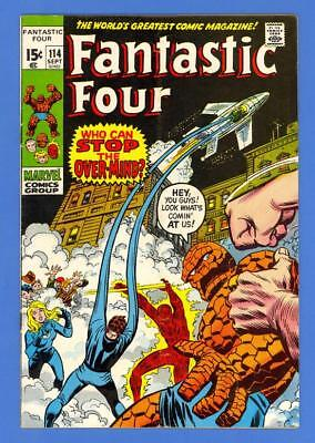 Fantastic Four #114 – Marvel Comics (1971) – The Over-Mind – High Grade!
