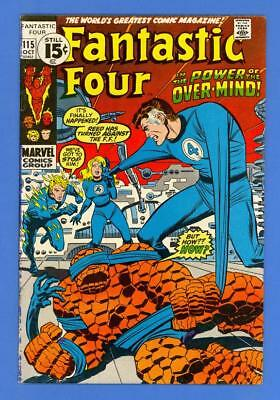 Fantastic Four #115 – Marvel (1971) – 1St App Of The Eternals – High Grade!