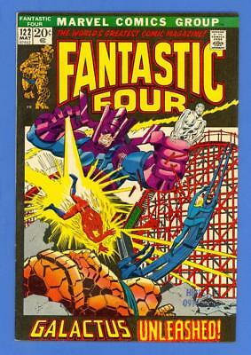 Fantastic Four #122 – Marvel (1972) – Galactus – Silver Surfer – High Grade!