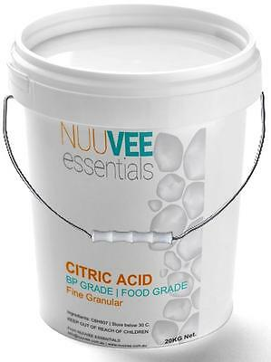 20Kg Bulk CITRIC ACID Food Grade, BP Pharma Grade ($13 Delivery METRO only)