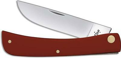 Case Cutlery XX SODBUSTER Jr Folding Pocket Knife w/ Smooth RED Handle 22806
