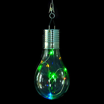 Colorful Solar Rotatable Outdoor Garden Waterproof Camping Hanging LED Light 1pc