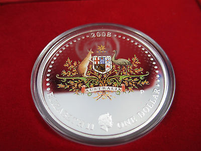 2008 Coat of Arms Australian Commonwealth 1oz Silver Proof Coin - Magnificent!!