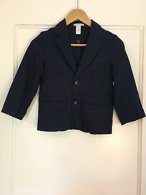 Janie and Jack Boy's Navy Blazer - 100% Cotton - Holiday - Size 6 - NEW