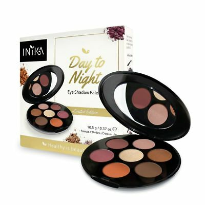 Inika - Day To Night Eye Shadow Palette - Includes 7 Shades - Vegan + Sample