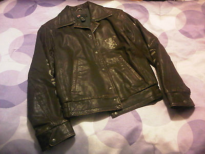 """Diesel Leather Jacket """"Only the Brave"""" Brown Stylish"""