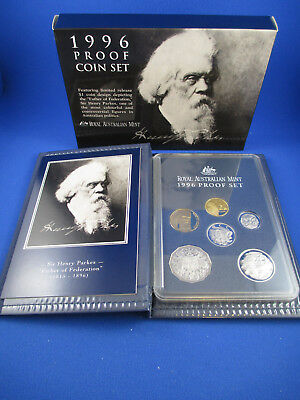 1996 Australian RAM PROOF COIN SET.  - Sir Henry Parkes - Limited release $1