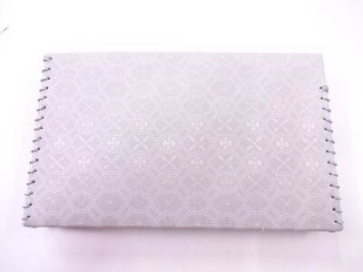 88351# Japanese Tea Ceremony / New! Kaishi-Ire Pouch  / Woven Grid & Flower