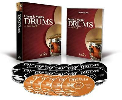 Learn & Master Drums Bk/5Cd/10Dvd
