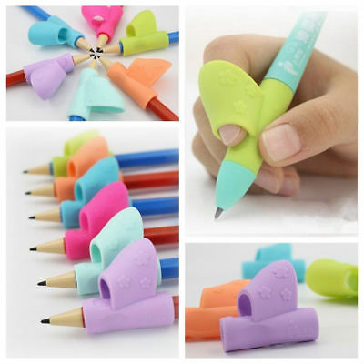 3PCS Kids Aid Grip Posture Correction Pencil Holder Pen Writing Tool School/Home