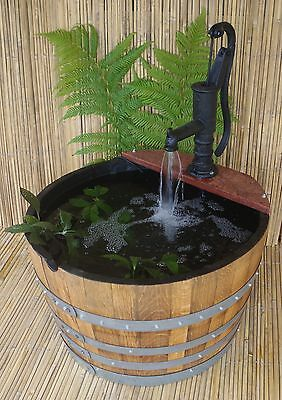 Wine Barrel Pond / Well Pump / Water Pump / Sealed / Gold Fish