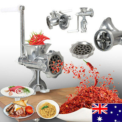 Steel Hand Iron Manual Meat Grinder Sausage Beef Mincer Table Maker Kitchen Tool