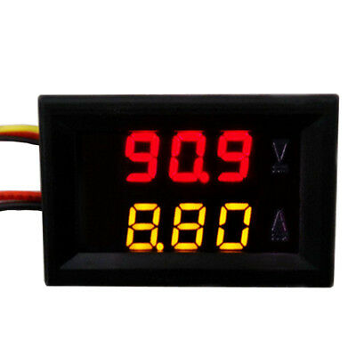 "0.28"" LED 4-Digit Dual-Display DC Ammeter Voltmeter Red Volt Yellow Amp"