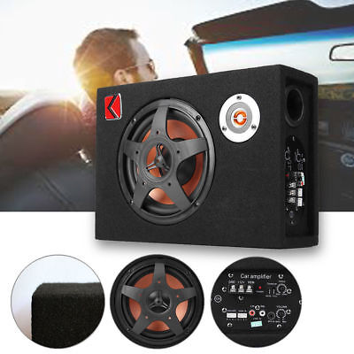 8 Inch 480W 12V Stereo Car Audio Subwoofer Bass Modified Speaker Amplifier