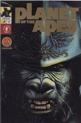Planet Of The Apes #1 (B) Gold Foil Photo Dynamic Forces Variant 1 of 1,500